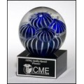 2142 Art glass globe